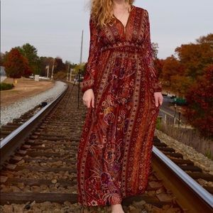 STUNNING bohemian RANNA GiLL Anthropologie dress